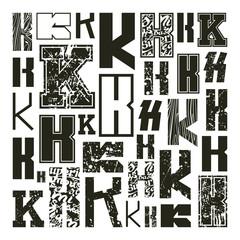 Set versions of letters K