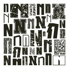 Set versions of letters N