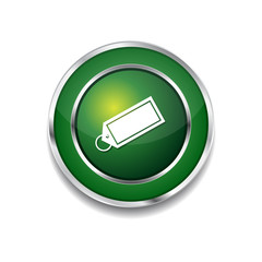 Tag Green Vector Icon Button