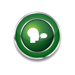 Talk Green Vector Icon Button