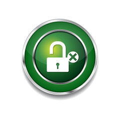 Unlock Green Vector Icon Button