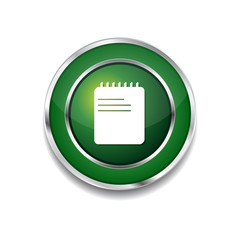 File Sign Green Vector Icon Button
