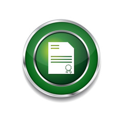 Certified Green Vector Icon Button