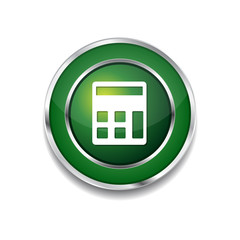Calculator Green Vector Icon Button