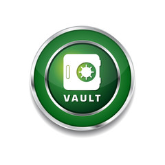 Vault Green Vector Icon Button