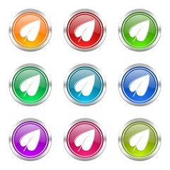 nature colorful web icons vector set