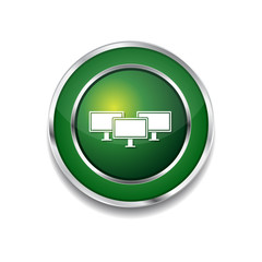 Networrk Icon Green Vector Icon Button