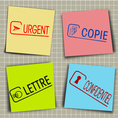 Messages sur post-it
