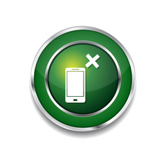 Smart Phone Green Vector Icon Button
