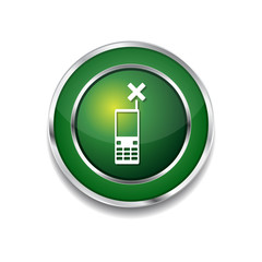 Phone Green Vector Icon Button