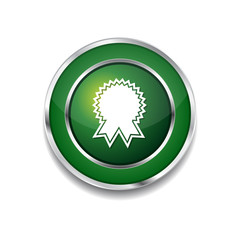 Medal Green Vector Icon Button