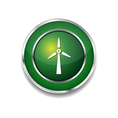 Windmil Green Vector Icon Button