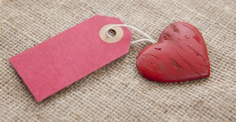 coeur a vendre avec étiquette