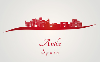Avila skyline in red