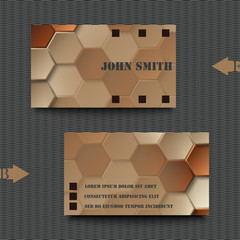 Business card template with abstract background