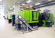 Leinwanddruck Bild - Injection molding of biomedical products in clean room