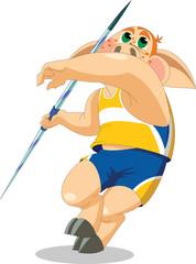 piglet is javelin thrower