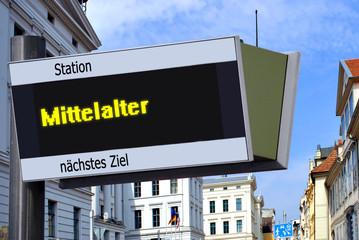 Anzeigetafel 7 - Mittelalter
