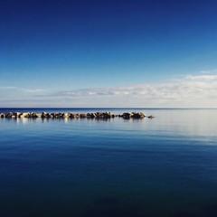 calm sea in a sunny day