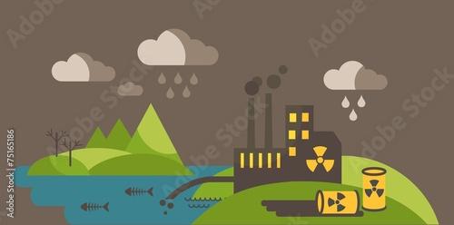 Landscape with environmental contamination. - 75165186