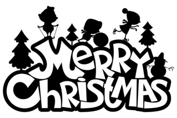 Vector sign. Merry Christmas.
