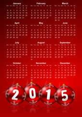 vector calendar 2015 monday first