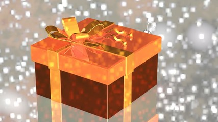 Gift with Christmas decorations