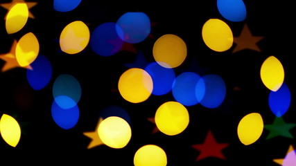 Colorful defocused blinking bokeh festive lights