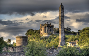 Calton Hill in Edinburgh, UK