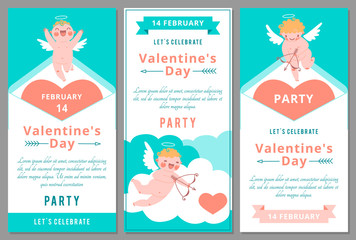 Valentines Day Party. Design templates.