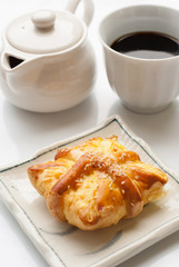 danish pastry with black coffee