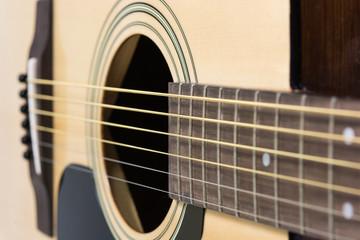 Detail closeup of classic guitar