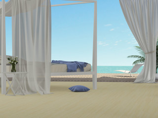 Bedroom overlooking the sea