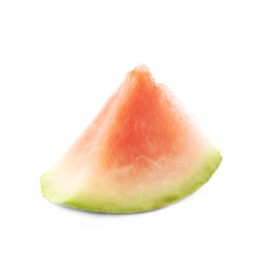 Triangle shaped watermelon slice isolated