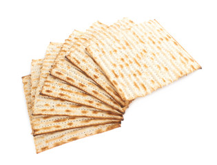 Twisted pile of multiple matza flatbreads