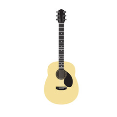 Acoustic guitar - vector