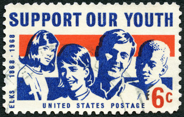 UNITED STATES OF AMERICA - 1968: shows Girls and Boys