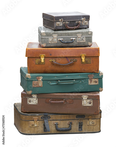 Foto op Canvas Retro Suitcases