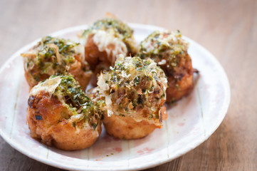 Takoyaki, delicious Japanese style octopus pancake