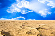 drought cracked desert landscape - 75171553