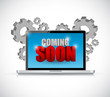 coming soon computer sign illustration