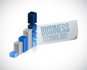 business technology graph illustration