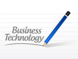 business technology message sign