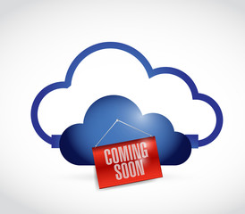 cloud storage coming soon. illustration