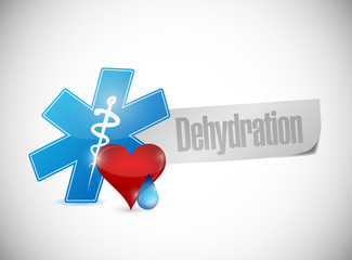 medical dehydration sign illustration