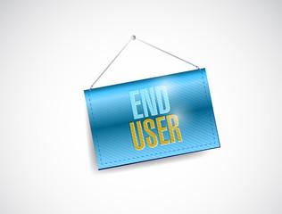 end user hanging banner illustration