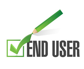 end user checkmark approval.