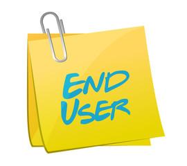 end user memo post illustration design