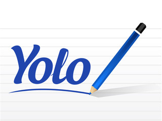 yolo sign message illustration design