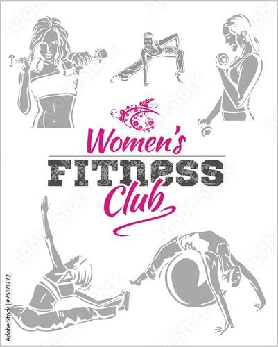womens-fitness-gym-wektor-zapasow